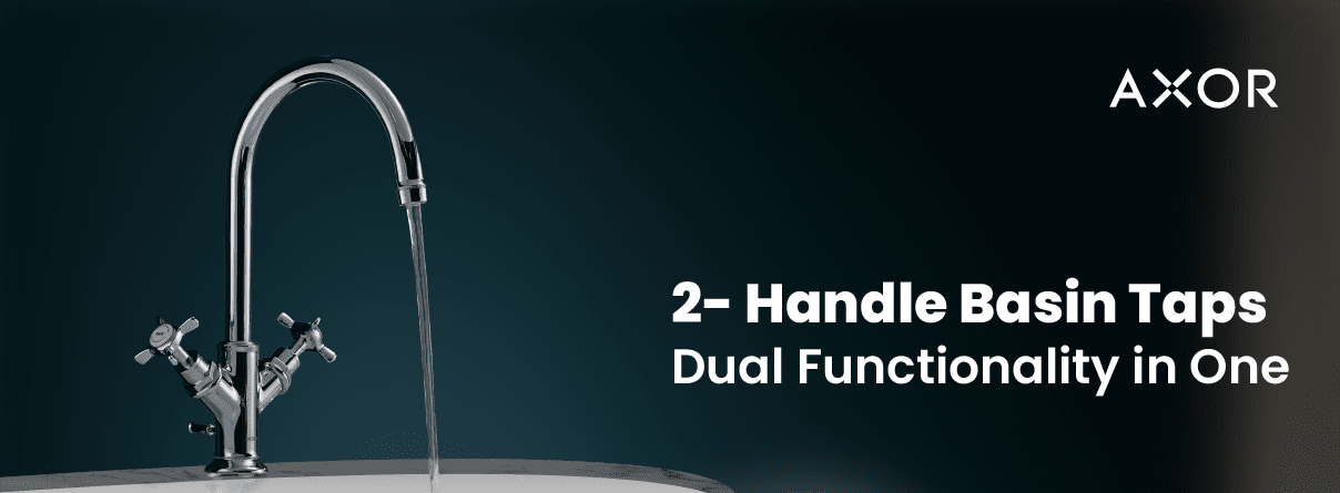 2-Handle Basin Taps from AXOR at xTWO