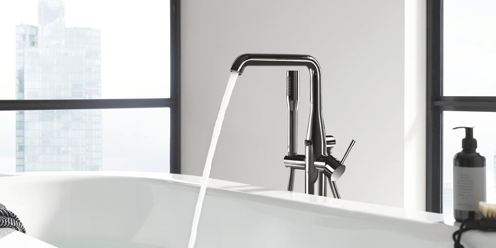 Grohe Essence Floor-Standing Bathtub Tap Hard Graphite
